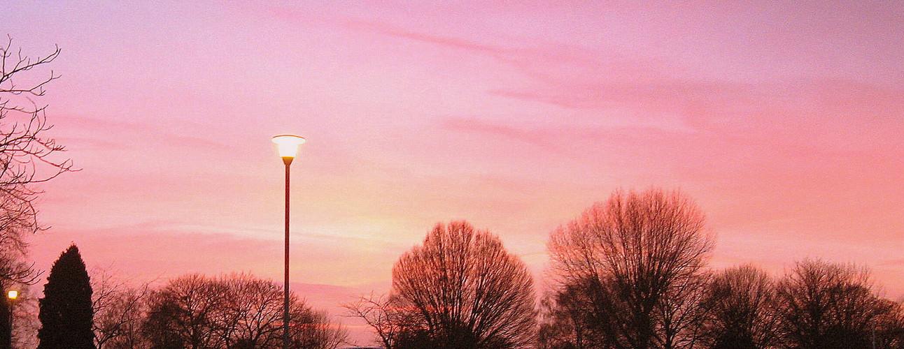 streetlight at dusk