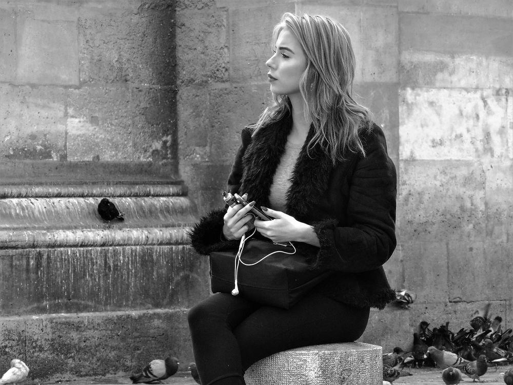 streetportrait paris lum-21/19-64sw +Reisefotos Paris usw