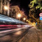 Streets of Kraków at night