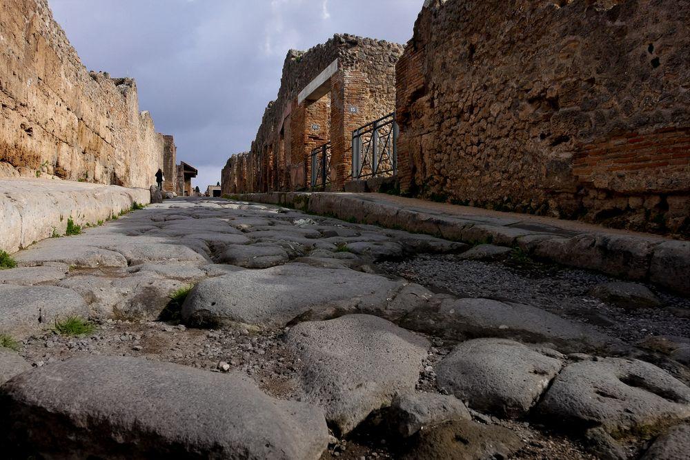 streets of pompeji