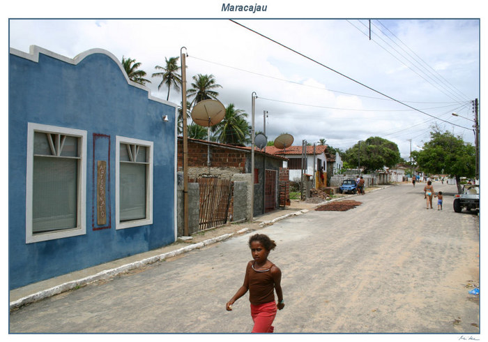 Streetscene in Maracajau, Brasil