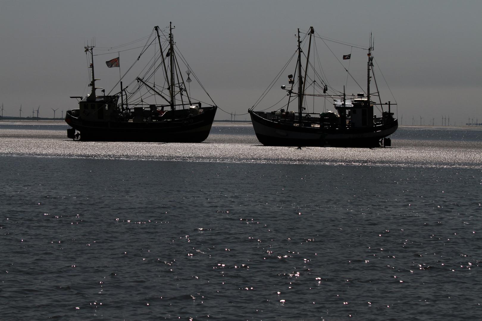 Streikende Krabbenfischer