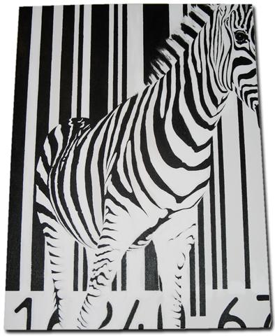Strichcode-Zebra-Gemälde