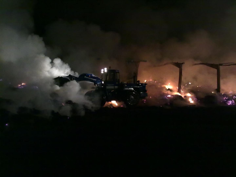 Strohhallenbrand