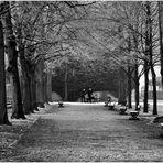 Strollers in a Frosty Hofgarten