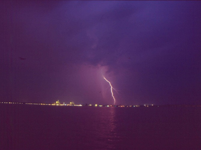 Strom über Stralsund
