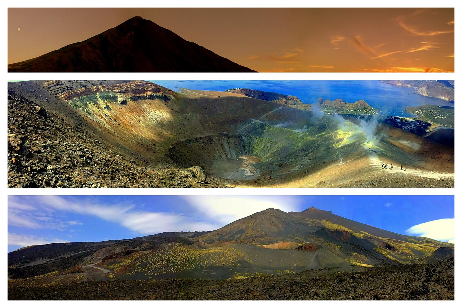Stromboli~ Vulcano~ Etna