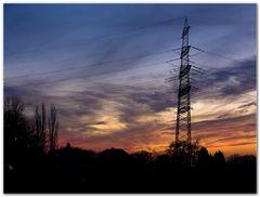 Strommasten und Natur....