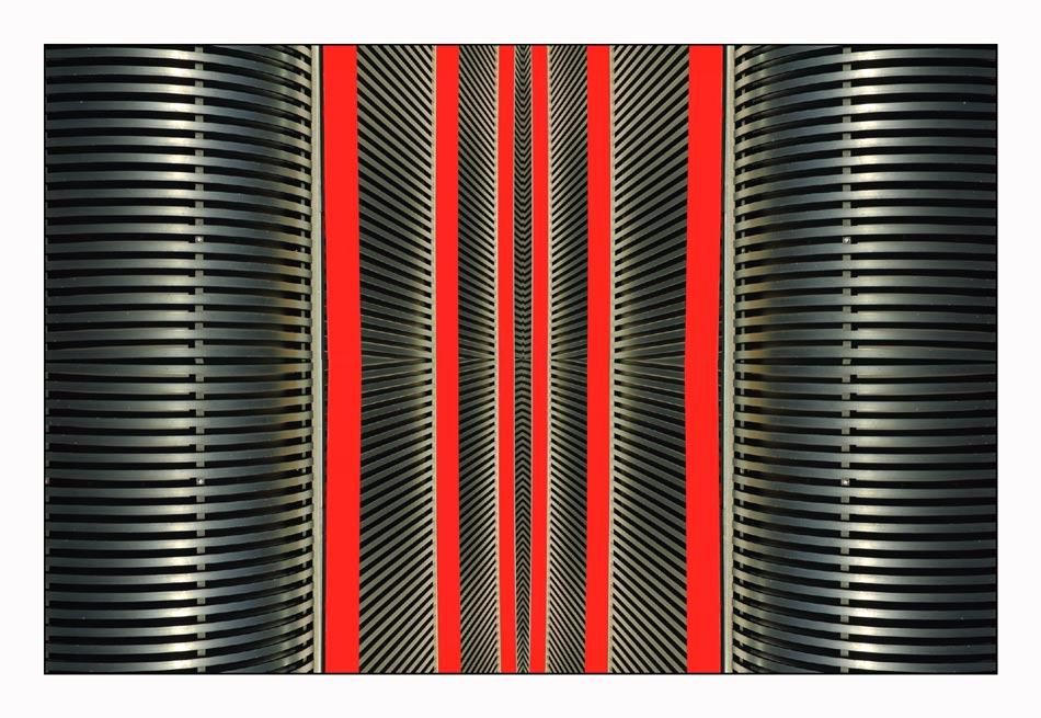 structure in red; Nr. 1 der Serie