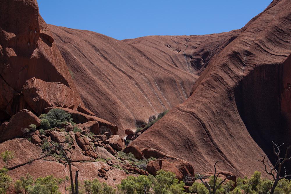 Strukturen am Uluru - die erste