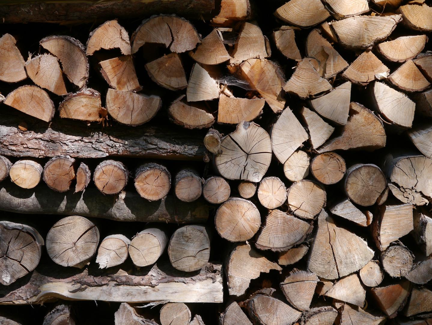 Strukturen geben Halt - Holzstapel