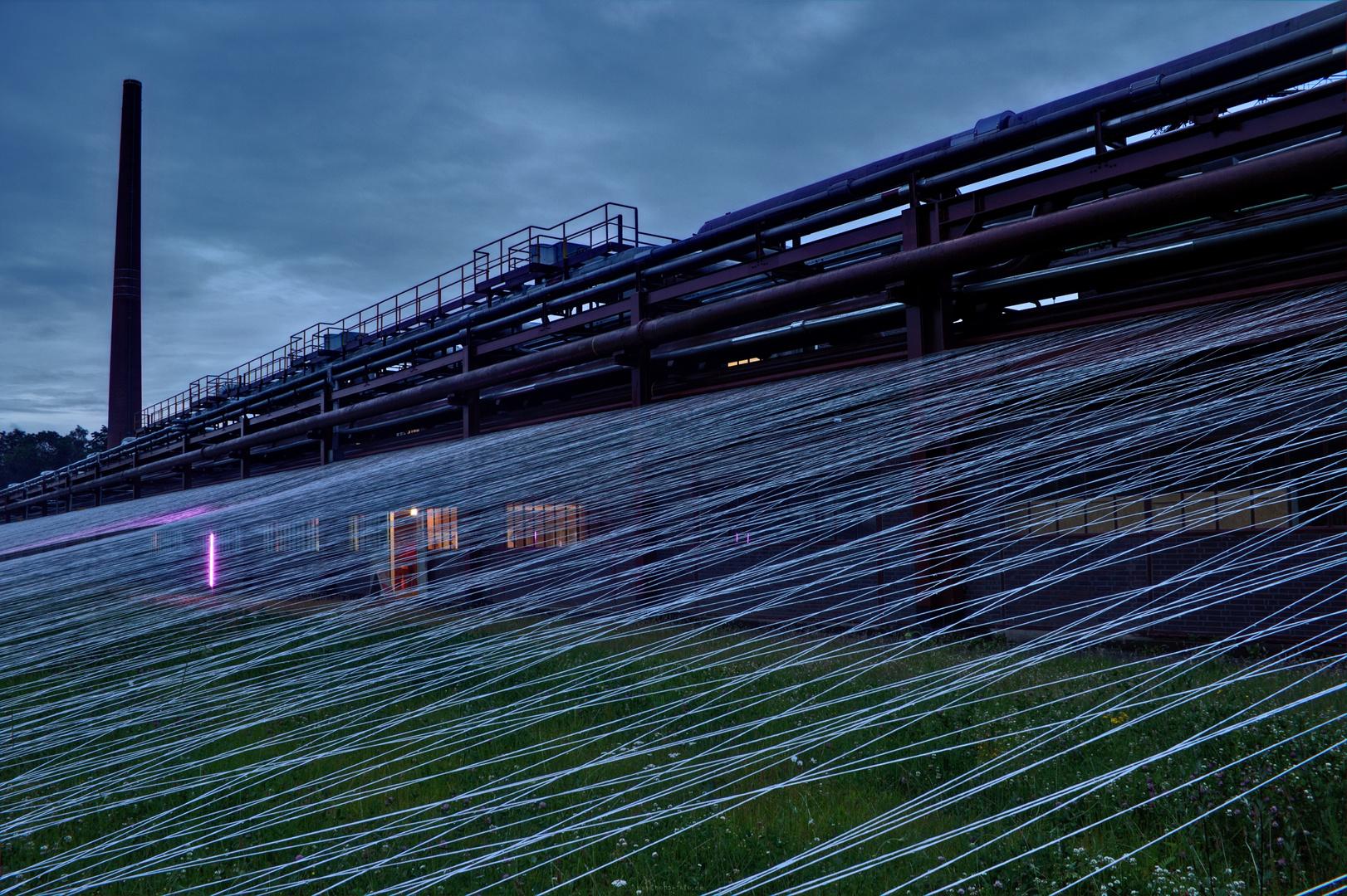 Studenten spannten auf Zollverein....