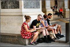 Studenti d`Arte a Firenze