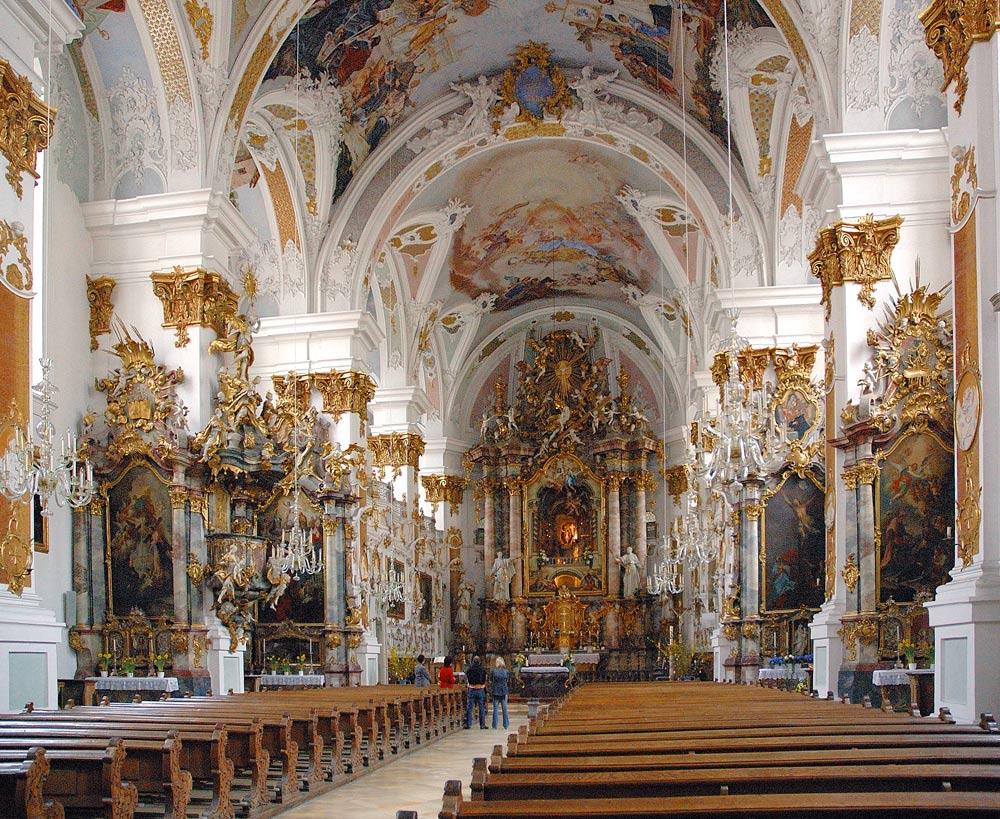 Studienkirche in Dillingen a. d. Donau (Kirchenschiff)