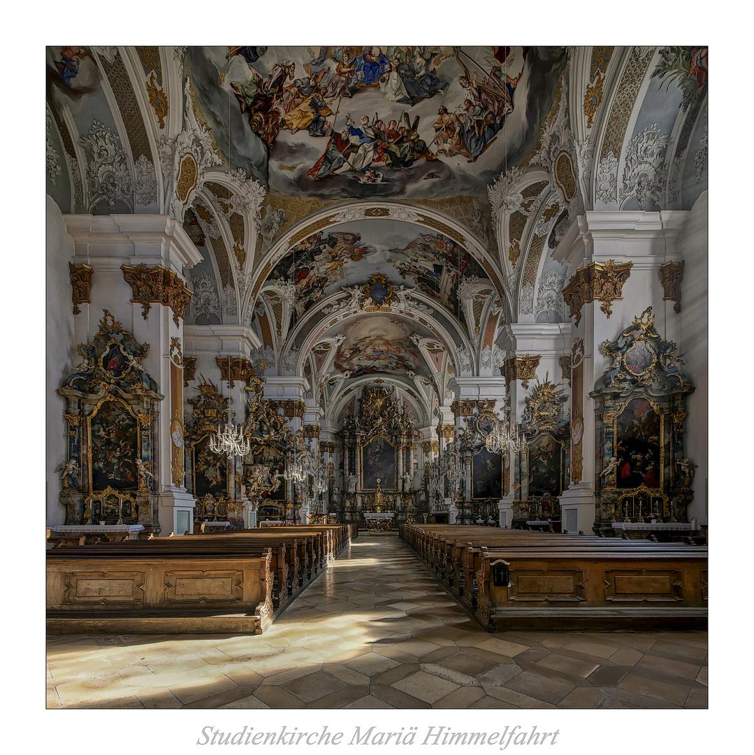 """Studienkirche Mariä Himmelfahrt (Dillingen an der Donau) """" Gott zu Gefallen..."""""""
