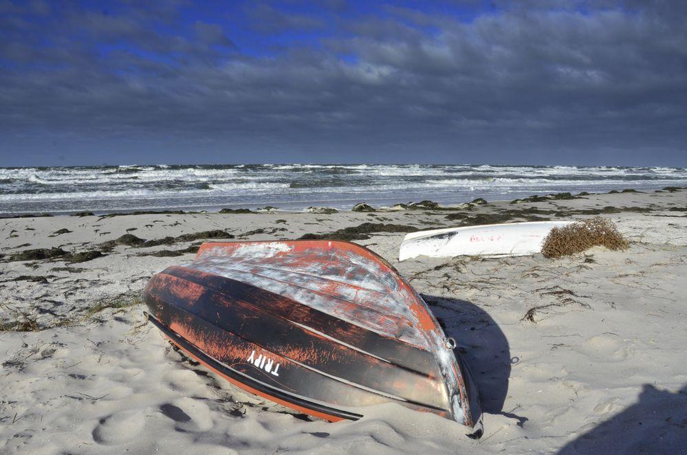 Stürmisch am Strand