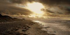 Stürmische Ostsee im Dezember / Insel Hiddensee