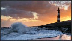 Stürmischer Morgen am Leuchtturm