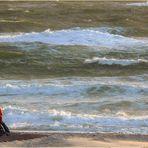 Stürmischer Nachmittag an der Nordsee - Zusammen genießen