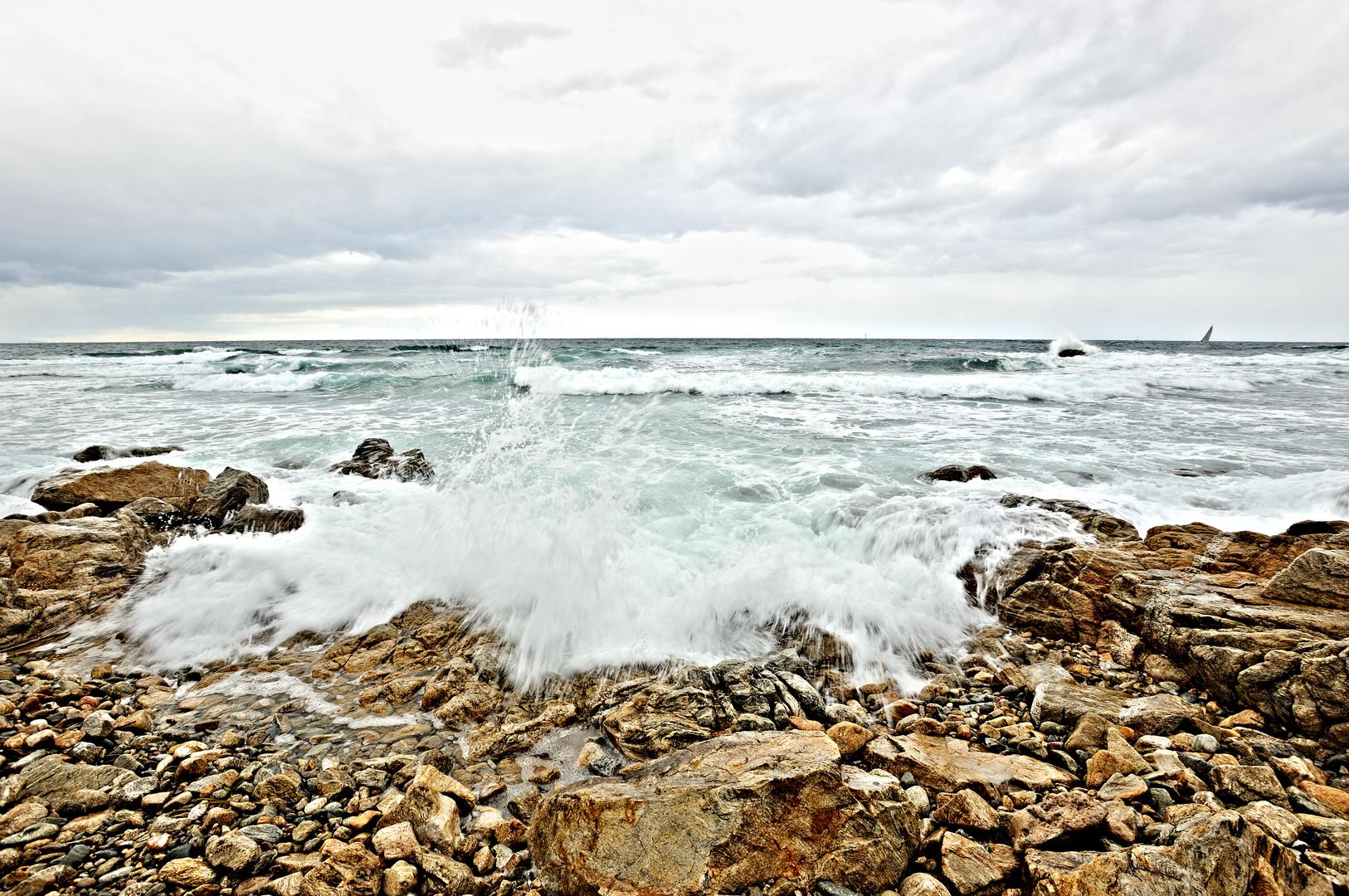 Stürmisches Mittelmeer
