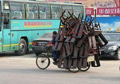 Stuhl-Transport-Künstler in Xian