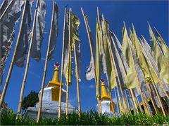 stupas at sangacholing monastery