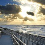 Sturm am Strand von Hiddensee