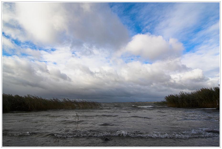 Sturm auch am Kummerower See..