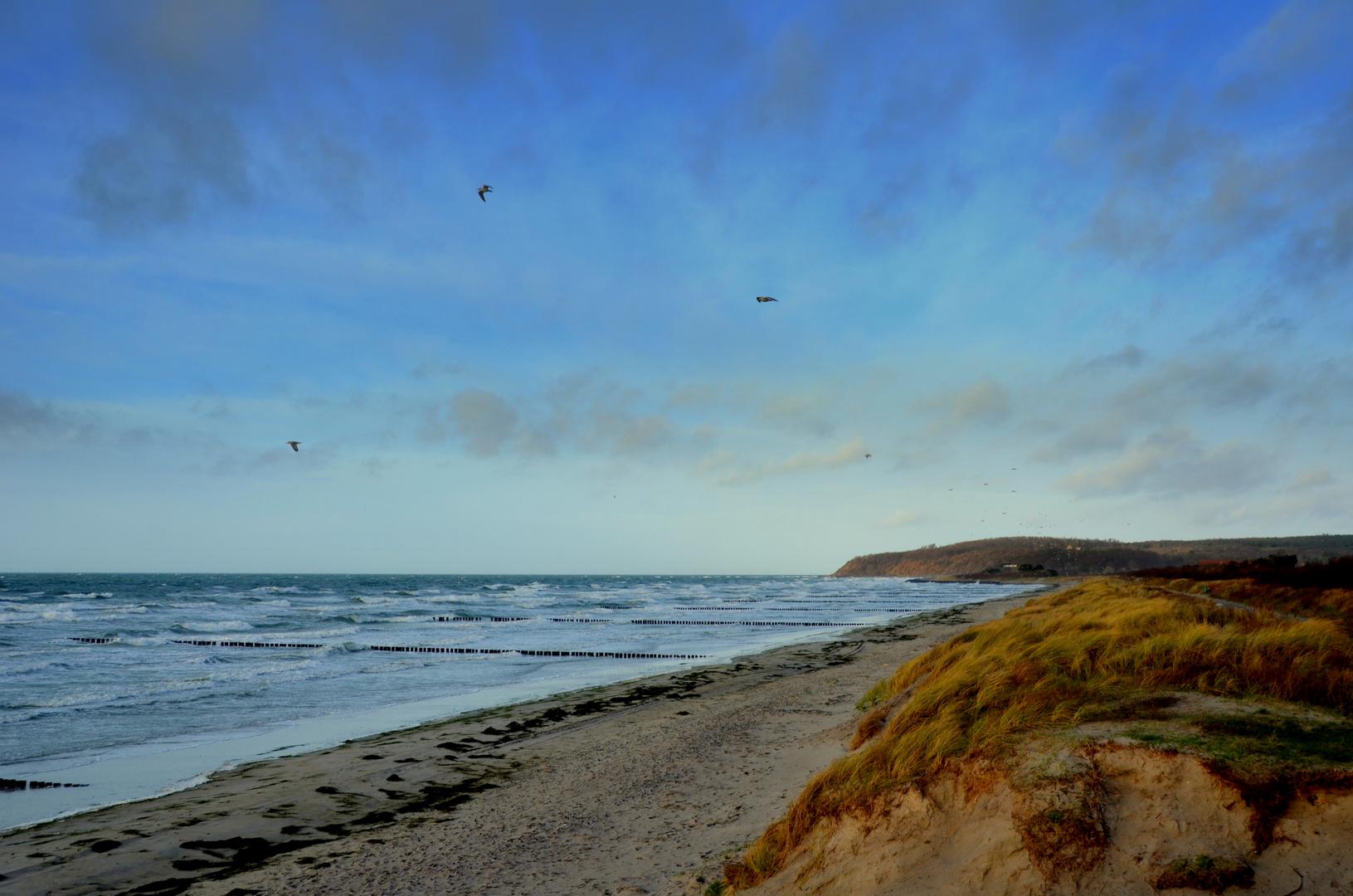 Sturm auf der Insel Hiddensee