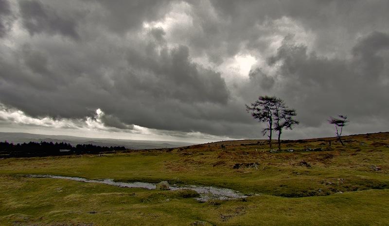 Sturm im Dartmoor England