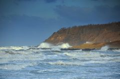 Sturm peitscht an Insel