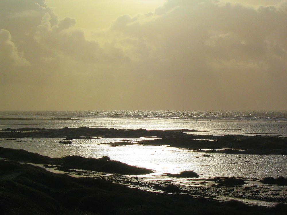 Sturmflut am Strand von Amrum