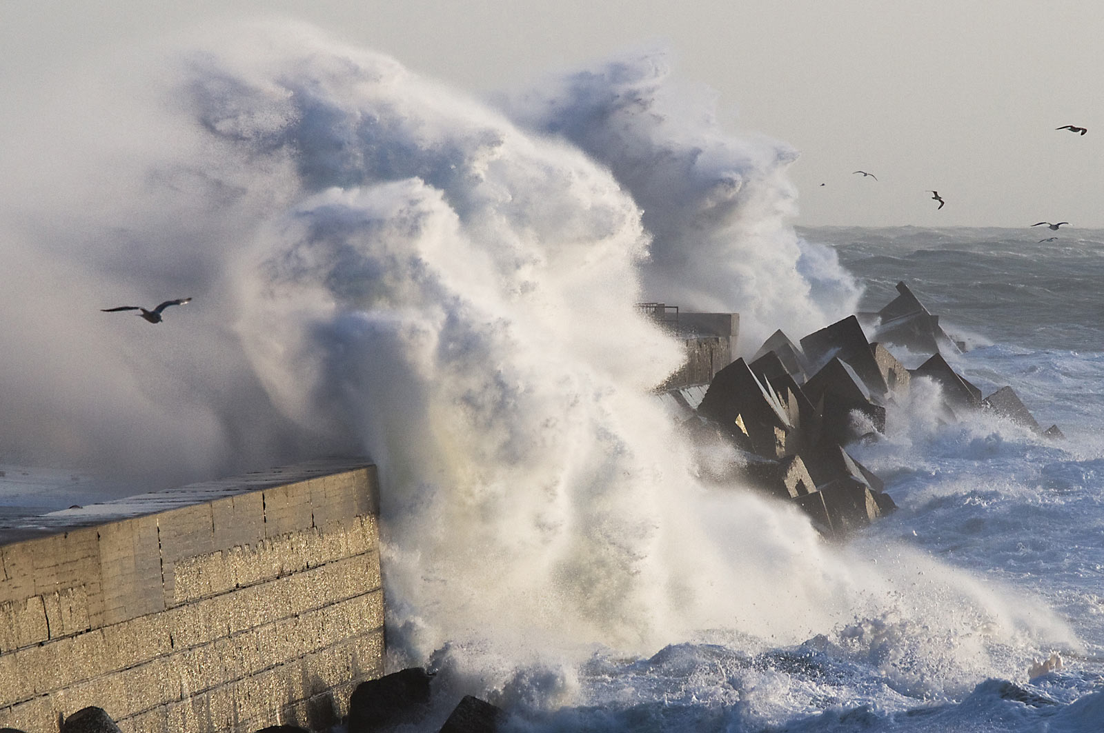 Sturmflut auf Helgoland