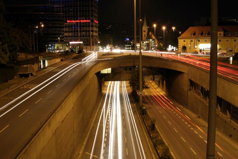 Stuttgart Charlottenplatz @ night