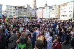 Stuttgart Marktplatz Menschen - K21 23.9.10