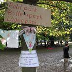 Stuttgart Park 1.10.2010 - Baum mit Pack -Rückblende