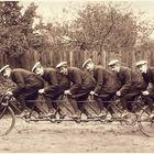 Styria, Steyr Puch Fahrrad für 6 Mann. 1899. Für Verfolger / Steher Rennen. Pacing Bike.