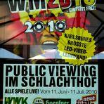 Südafrika WM Public Viewing 2010 in Karlsruhe im Schlachthof