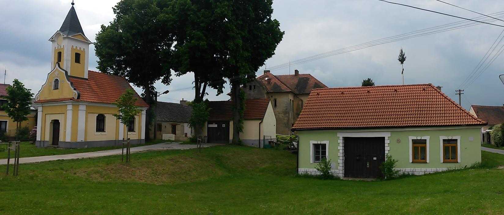 Südböhmisches Dorf Horusice im Landkreis Tábor