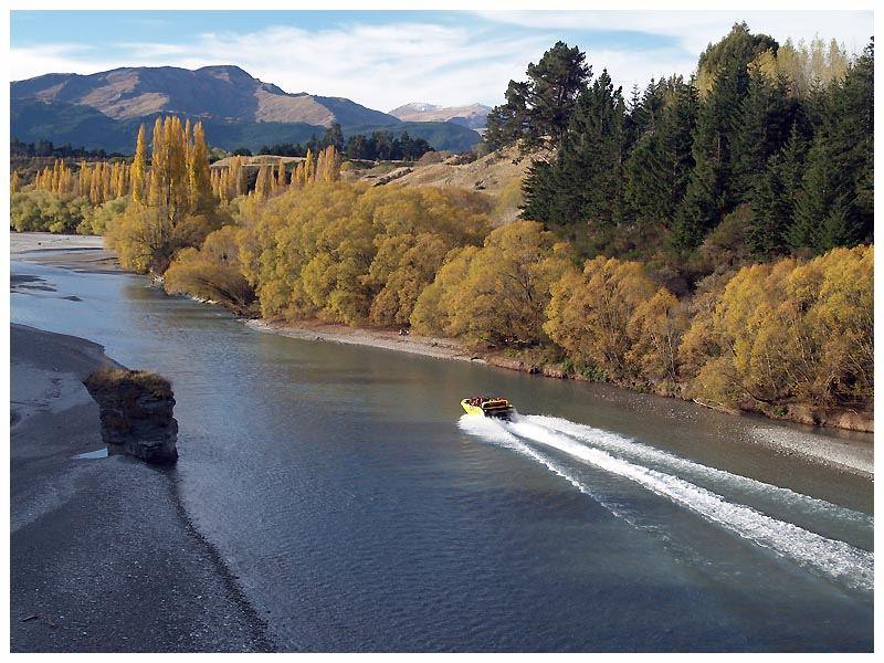 Südinsel von Neuseeland - Blick von der Shotover-Brücke