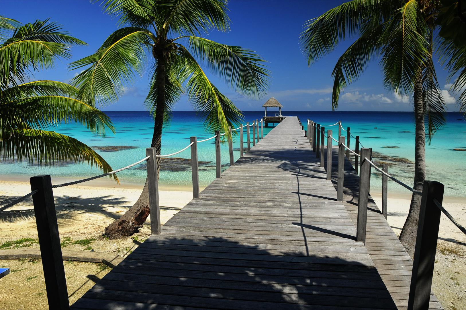Südsee Atoll