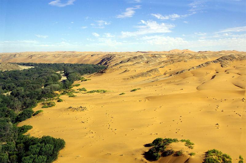 Südufer des Kuiseb (Luftaufnahme)