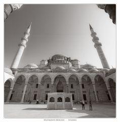 Süleymaniye-Moschee in Istanbul (Sepia-Version)