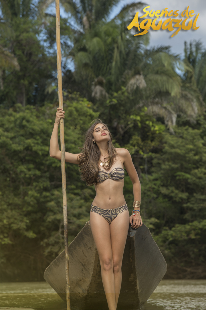 Sueños de Aguazul - LLanos Colombianos, con la hermosa Camila Avella. Fotografía: Pablo A