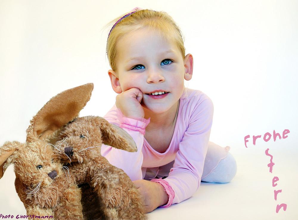 Süße Maus Frohe Ostern Foto Bild Kinder Kinder Ab