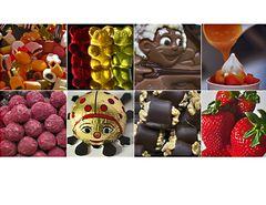 Süßigkeitencollage - unser Februarthema
