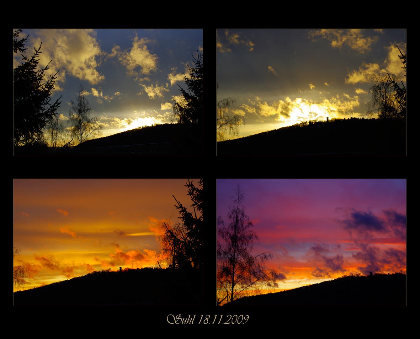 Suhl Sonnenuntergang