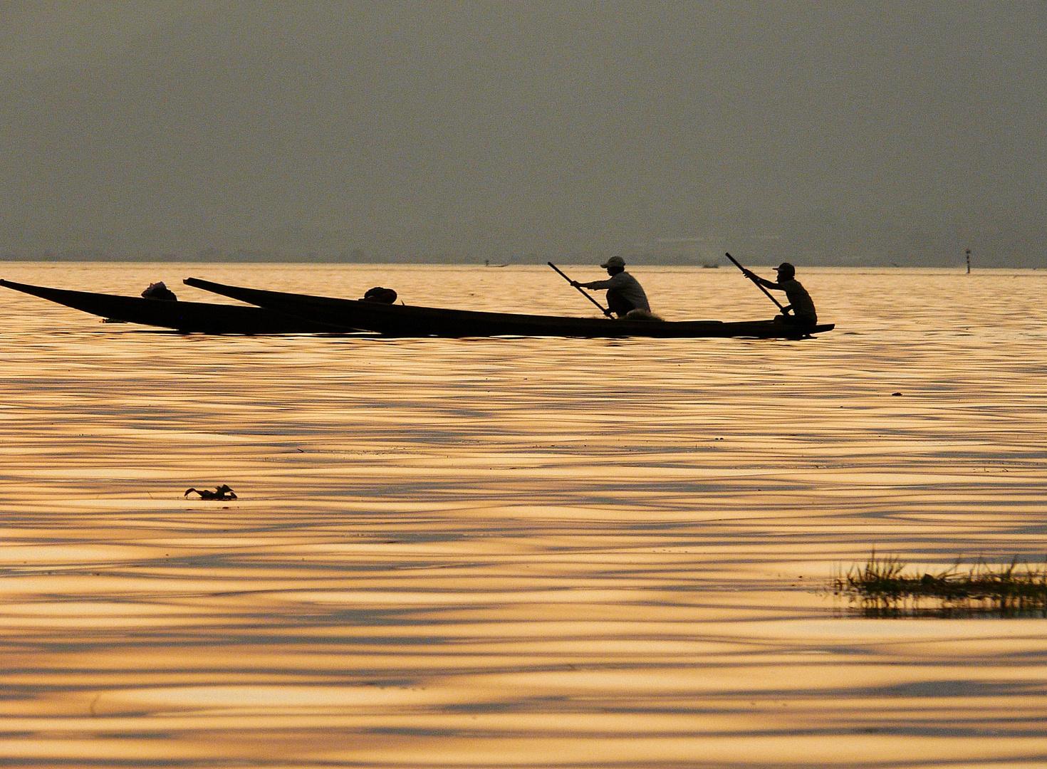 Sul lago Inle (Birmania)