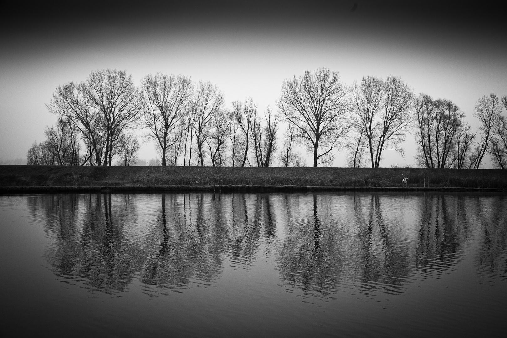 Sulla riva del lago