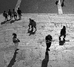 Sulla scalinata di Trinità dei Monti